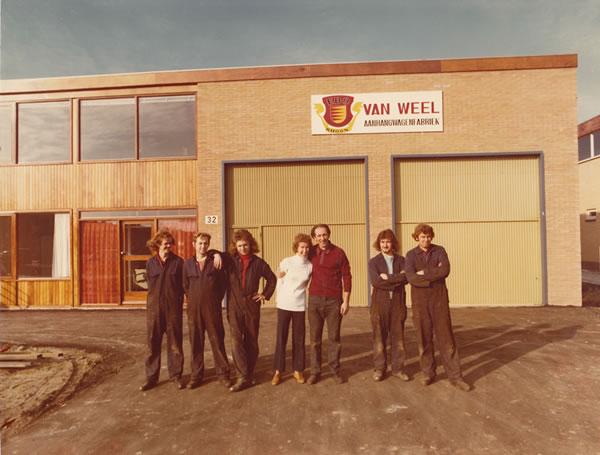 1973 - Opening vestiging Binnenbaan 32 te Rhoon