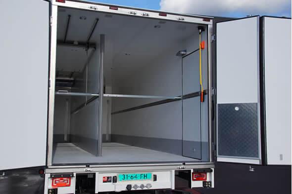 Compartimenten carrosserie voor multitemp vervoer - Huuskes