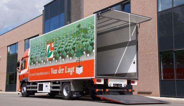 Geconditioneerde opbouw gebouwd op een DAF truck