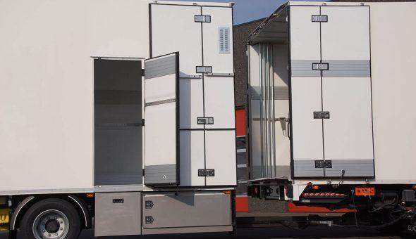 Geconditioneerde opbouw voor disitributievervoer op mooie DAF Truck