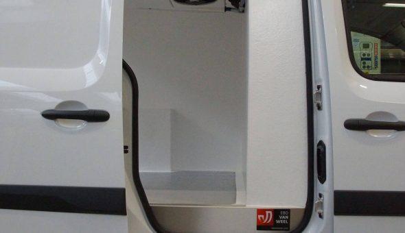 Gekoelde bestelbus kit ingebouwd in een Volkwagens Caddy