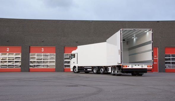 Isotherm motorwagen carrosserie gebouwd op Scania motorwagen