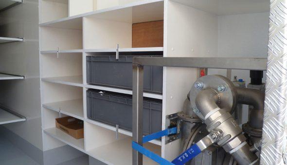 Maatwerk opties voor geïsoleerde koelwagen in Mercedes Sprinter