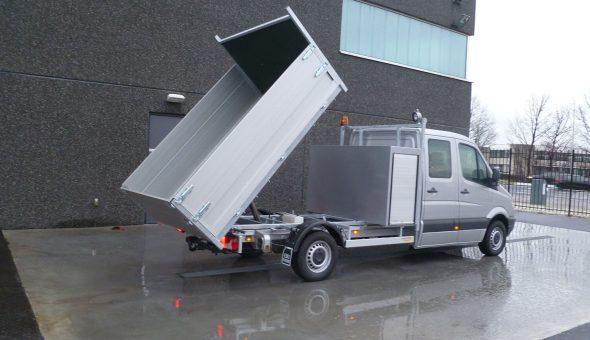 Open laadbak kipper uitvoering met betonplex vloer Mercedes Sprinter
