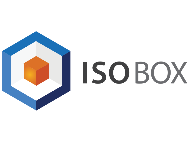 Logo Isobox srl., a company which manufactures isothermal boxes destined for refrigerated freight transport