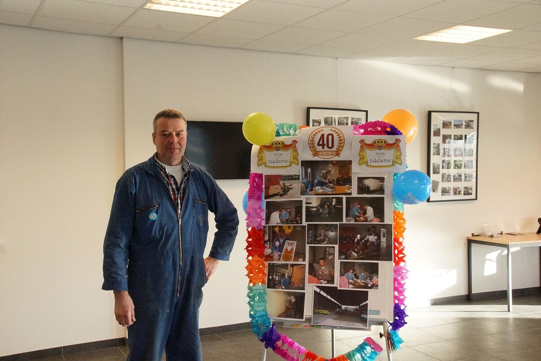 Johan van Nielen 40 jaar in dienst