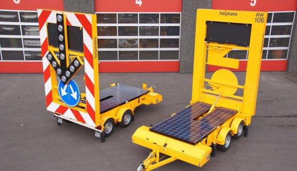 Actiewagen voorzien van solar energie voor lange stand-alone tijd met splitspijlen functie