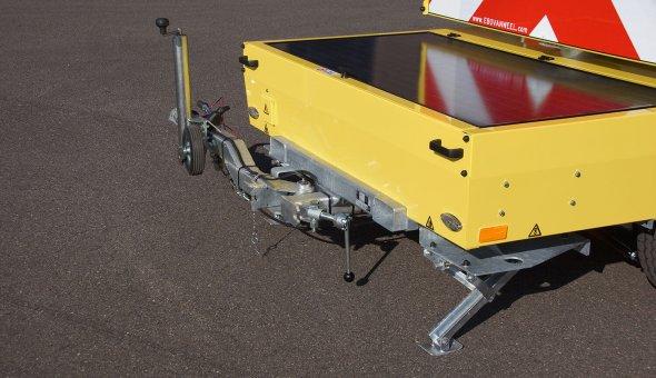 Compacte en simplistische tekstwagen met energiezuinig LED-display