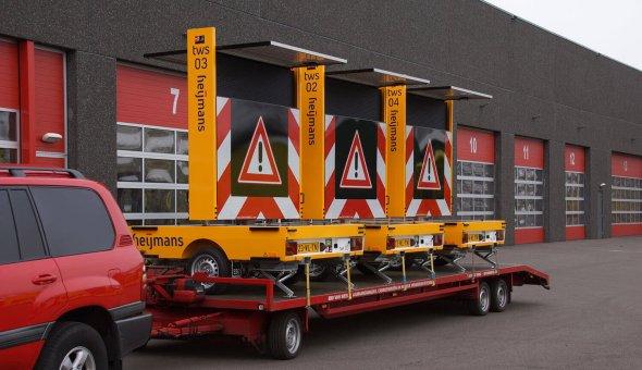 Full-colour tekstwagen voor Heijmans Wegen met solar laadregelaar en Traffic Fleet