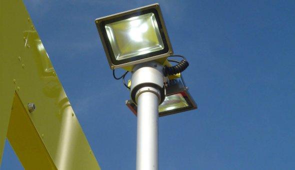 LED lampen voor lichtmast tijdens werkvakverlichting t.b.v. TMA 100K