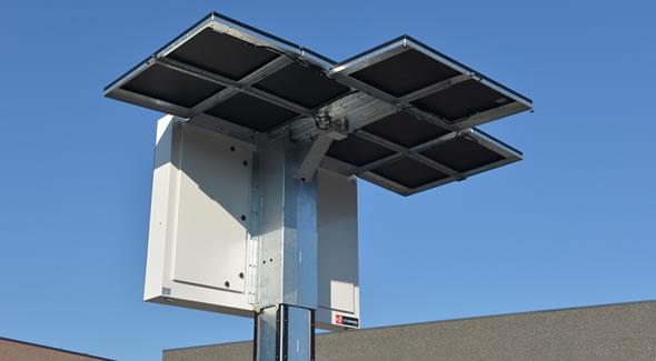 Mobiele bermdrip draaibaar met full color LED-display Type 3C op zonne-energie