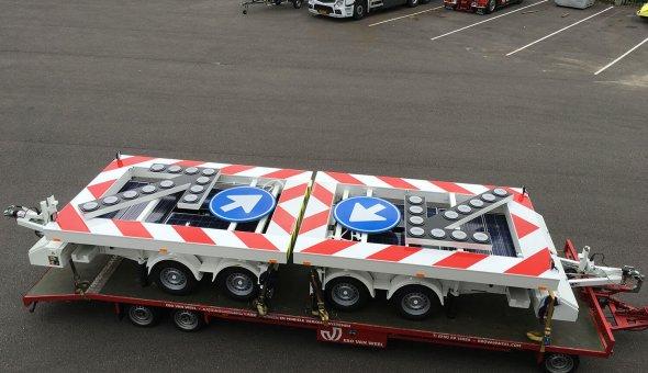 Nieuwe solar pijlwagens geleverd aan Traffic and More