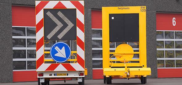 Pijlwagen uitgevoerd als chevronwagen