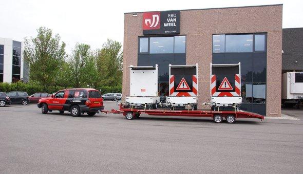 Tekstwagen eenvoudig te transporteren en handig voor stedelijk gebied