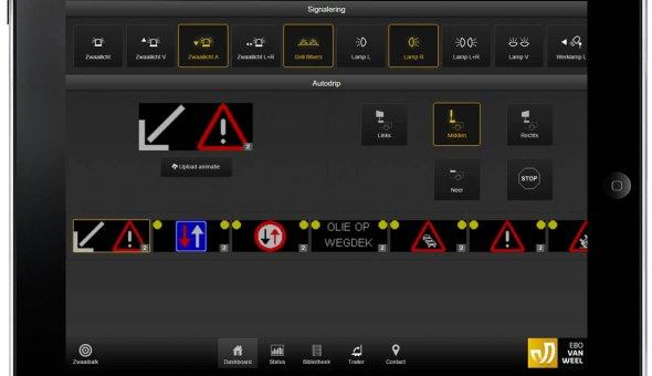 Traffic Fleet aansturing voor de Autpdrip via app op tablet