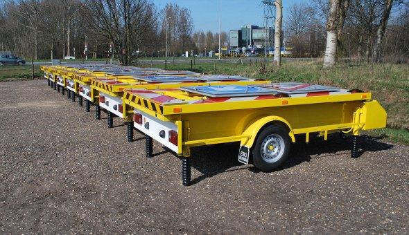 Vluchtstrookwagen met uitgrebreide bordenboeken geleverd aan de provincie Friesland