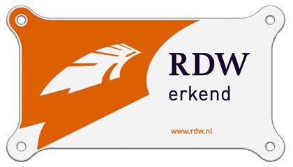 EBO van Weel is RDW erkend