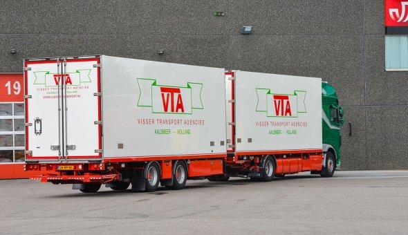 Geconditioneerde combinatie voor VTA Transport. Maatwerk carrosserie voor groupage transport