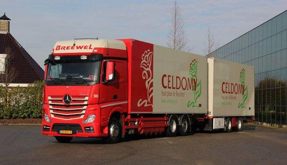 Geisoleerde carrosserie combinatie voor Breewel Transport opgebouwd op Mercedes Actros
