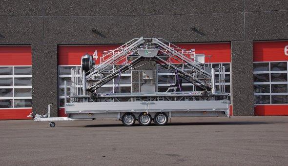 Maatwerk open aanhangwagen gebouwd naar wens van de klant
