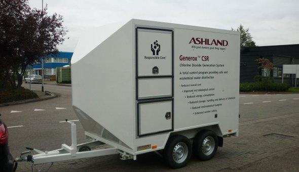 Maatwerk tandemasser aanhangwagen met maatwerk opties voor Ashland