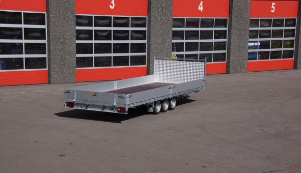 Materiaalwagen geleverd aan BUKO Infrasupport - Open aanhangwagen
