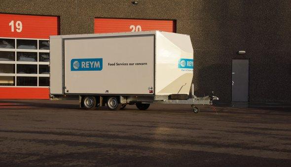 Tandemasser maatwerk aanhangwagen gebouwd voor Reym Industrial Services
