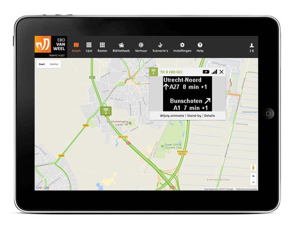 Dynamische reistijd informatie gebaseerd op Floating Car Data en Google verkeersinformatie