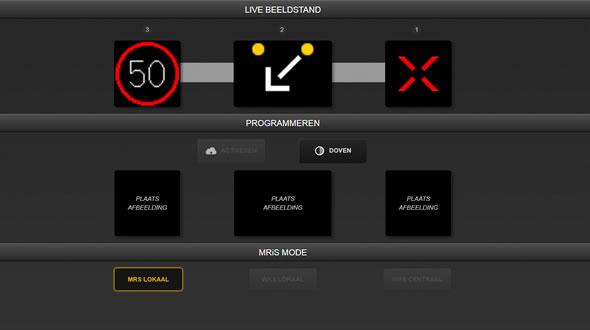 Tijdelijke rijstrook signalering aangestuurd via gebruikersvriendelijke applicatie