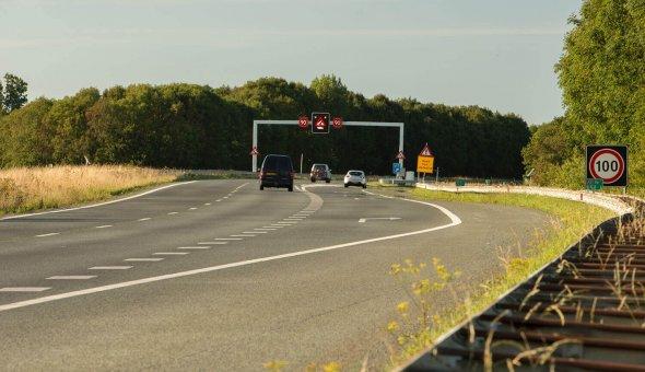 Tijdelijke rijstrooksignalering - TRS voor Traffic & More groot onderhoud Afsluitdijk