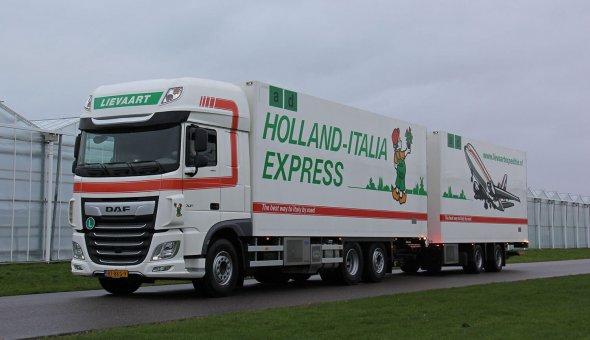 10x isotherm vrachtwagen combinatie voor Lievaart Transport