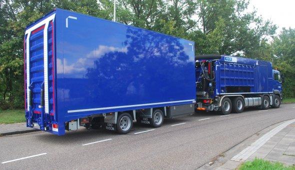 Maatwerk carrosserie voor oprijwagen zware voertuigen