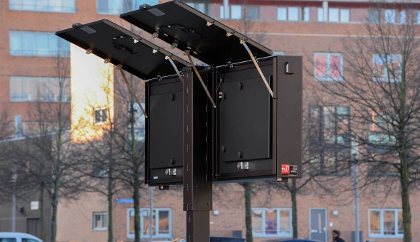 Solar tekstkar kopen met full colour LED-display en zonnepanelen