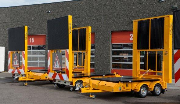 Heijmans Materieelbeheer investeert in tien solar tekstwagens