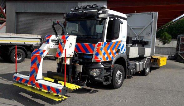 Andreasstrippenlegger RAPTOR 2M voor het veilig plaatsen van Andreasstrippen