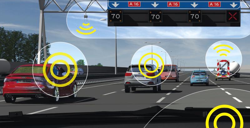 Pijlwagen in de landelijke verkeersinformatie