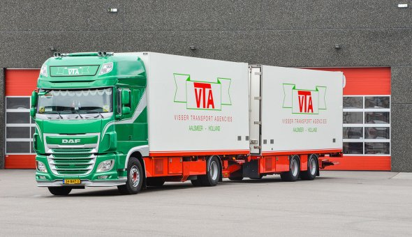 Conditioned truck body combination delivered to VTA. Custom made truck body on DAF