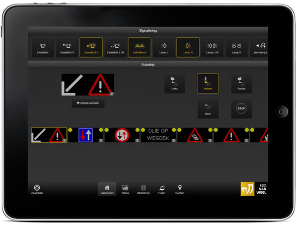 Control your VMS with a tablet and Traffic Fleet application