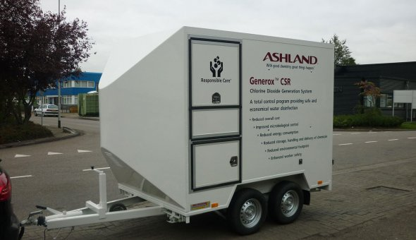 Custom build twin axle box van trailer with customs options for Ashland