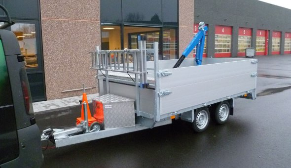 Custom built trailer such as box van trailers with plywood panels