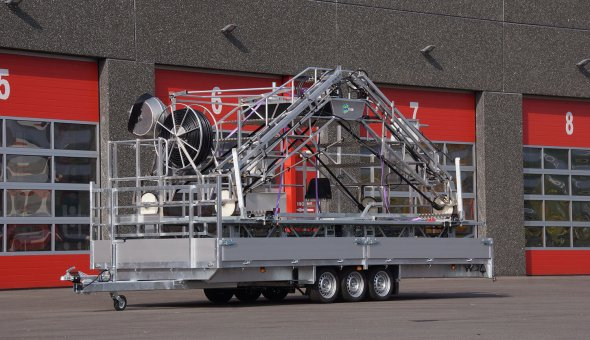 Custom made open trailer build according to the wished of the clients