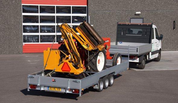 Custom made trailers used as transporter