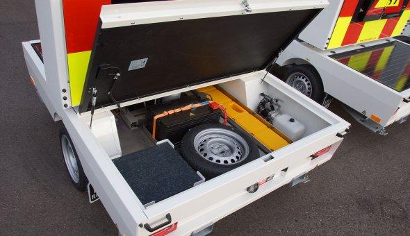 Solar VMS-trailer for Norwegian Dealer with energy friendly LED-display