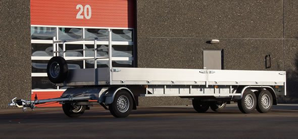 Strong and durable bogie trailer destined for heavy duty usage