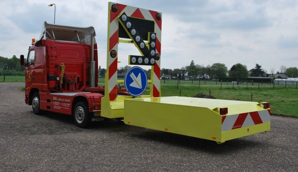 TMA truck with arrow warning LED for BUKO Infrasupport