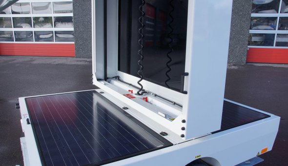 Transport the VMS-trailer with ease, convenient for urban areas
