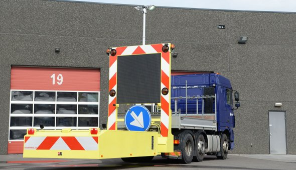 Truck Mounted Attenuator 100K delivered to BAM INfra with Swarco LED-display for better visability