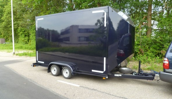 Two axle flower trailer with WAP axles and Plywood panels