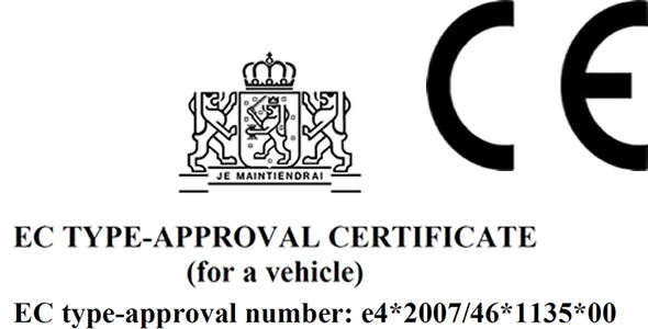 VMS-trailer applies to the ECE approval and CE-marking