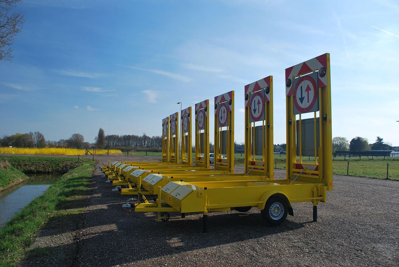 Vw 1300 P Traffic Warning Trailer For Roadworks Ebo Van Weel